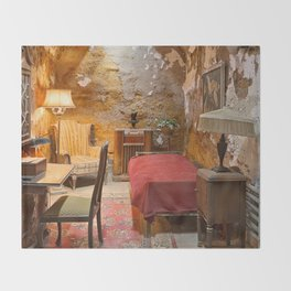 Al Capone's Luxurious Prison Cell Throw Blanket