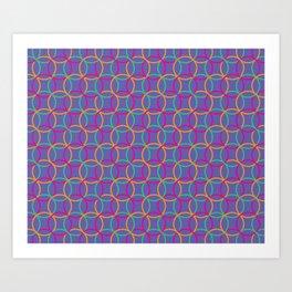 Colorful rings Art Print