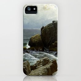 Castle Rock Marblehead 1878 By Alfred Thompson Bricher iPhone Case