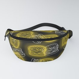 Neon Burgers in Yellow Fanny Pack