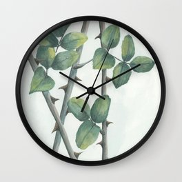 rose thorns Wall Clock