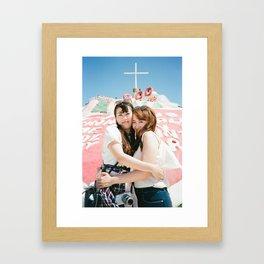 Holy Girls Framed Art Print