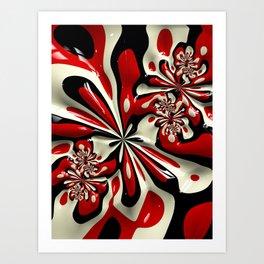 Red Moschino Splotch Art Print