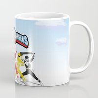 power rangers Mugs featuring porno rangers by Anthrackie