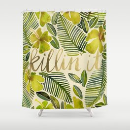 Killin' It – Tropical Yellow Shower Curtain