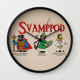 SvampPod TriForce Wall Clock
