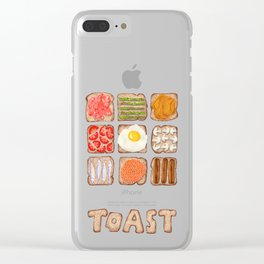 Breakfast Toast Clear iPhone Case