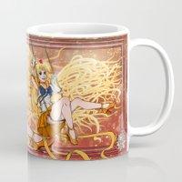 sailor venus Mugs featuring Sailor Venus by Teo Hoble