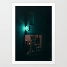 Moments of Green, Melbourne Art Print