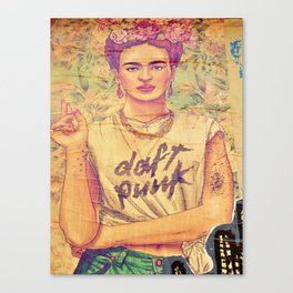 daft punk & frida Canvas Print