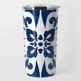 Baroque inspired ceramic style tile art Travel Mug