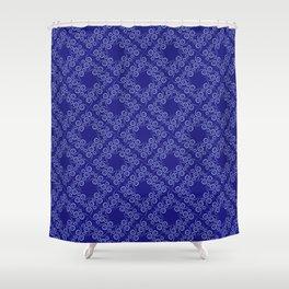 Blue lace curls Shower Curtain
