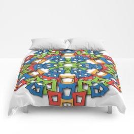 aztec mandala big sun Comforters