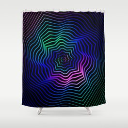 Hypnonotic geometric mandala Shower Curtain