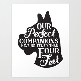Our perfect companions Art Print
