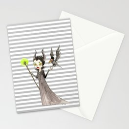 Maleficent and Diaval Stationery Cards