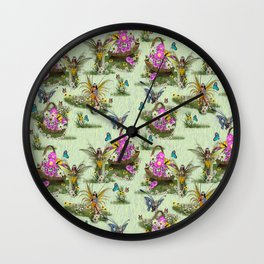 Spring Fairy Butterflies Wall Clock