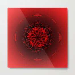 Red orbiting star Metal Print