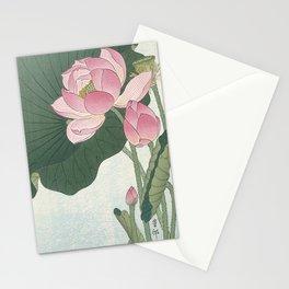 Flowering lotus flowers, Ohara Koson Stationery Cards