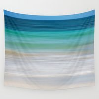 window Wall Tapestries featuring SEA ESCAPE by Catspaws