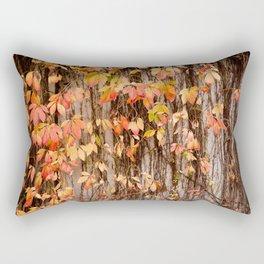 Vitaceae family ivy wall abstract Parthenocissus quinquefolia Rectangular Pillow