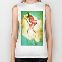 mythology Biker Tanks featuring Gryphon mythology by Ganech joe