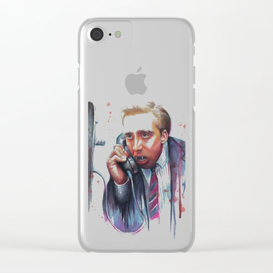 Nicolas Cage Clear iPhone Case