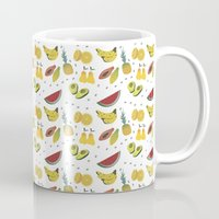 fruits Mugs featuring Fruits by Amanda Araujo