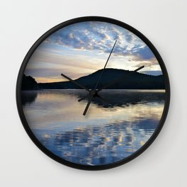 Rippling Reflections: September Sunrise on Lake George Wall Clock