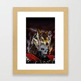 SkullWolf Framed Art Print