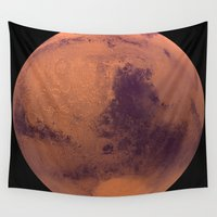 mars Wall Tapestries featuring Mars by Tobias Bowman