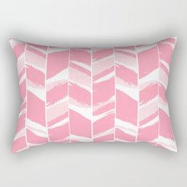Modern abstract pink geometric brushstrokes chevron pattern Rectangular Pillow