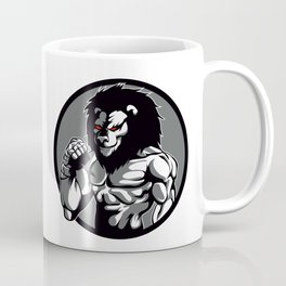 lion man MMA fighter pose Coffee Mug