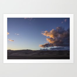 Sunset over the Dunes Art Print