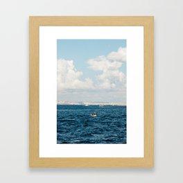 Fishermen - Istanbul, Turkey Framed Art Print