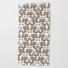Blooming Ponytail Beach Towel