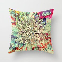 Enrich Your Life (Rainbow) Throw Pillow