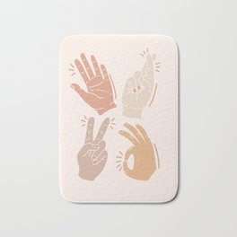 I Don't Know What to Do With My Hands Bath Mat