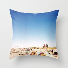 New York Summer at the Beach #1 Throw Pillow