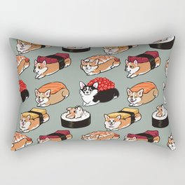 Sushi  Corgi Rectangular Pillow