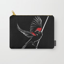 Red shoulder Black bird Carry-All Pouch