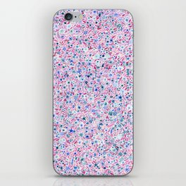 Pink and Blue Floral iPhone Skin
