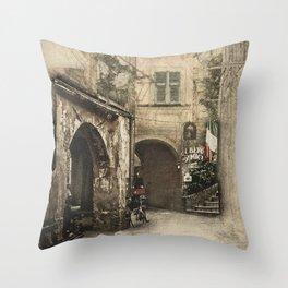 Secret Alleyway Throw Pillow