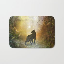 The lonely wolf Bath Mat