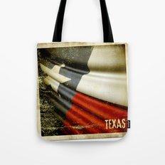 Grunge sticker of Texas (USA) flag Tote Bag