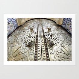 Marocco Door Mosaic Style Design Metal Art Print