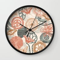doodle Wall Clocks featuring doodle  by Ancello
