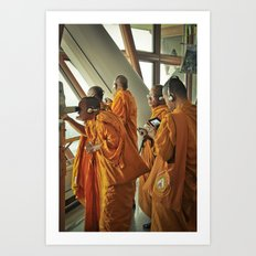 Hi-tech Monks Art Print