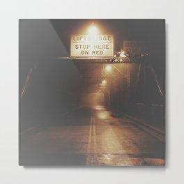 Lift Bridge in the Fog Metal Print