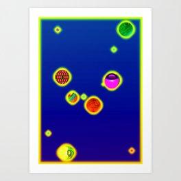 Constellations virgo Art Print
